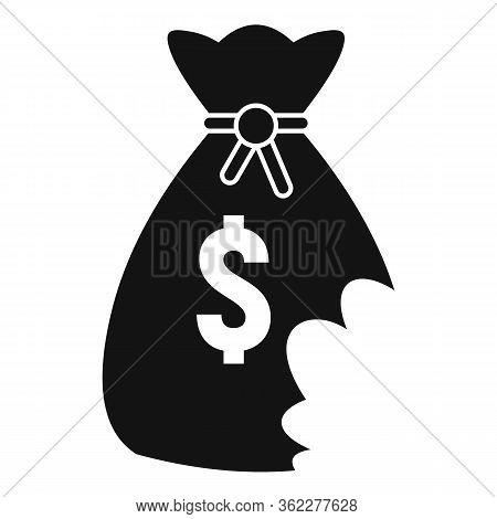Money Bag Bankrupt Icon. Simple Illustration Of Money Bag Bankrupt Vector Icon For Web Design Isolat