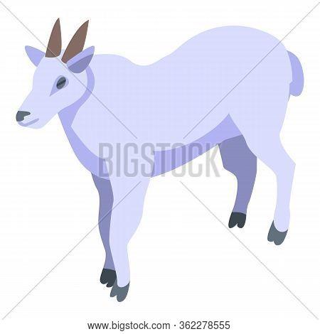 Alpine Goat Icon. Isometric Of Alpine Goat Vector Icon For Web Design Isolated On White Background