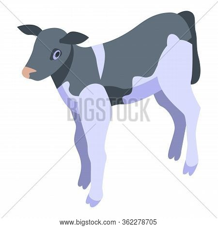 Cow Animal Icon. Isometric Of Cow Animal Vector Icon For Web Design Isolated On White Background