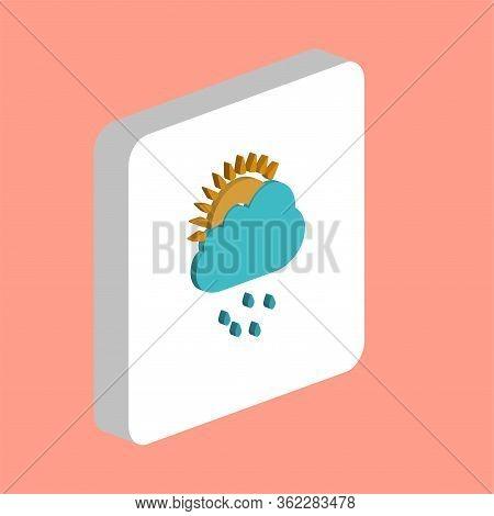 Raindrops, Cloud Simple Vector Icon. Illustration Symbol Design Template For Web Mobile Ui Element.