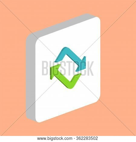 Refresh Arrow Simple Vector Icon. Illustration Symbol Design Template For Web Mobile Ui Element. Per