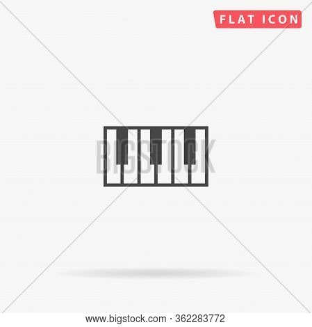 Piano Keys Flat Vector Icon. Glyph Style Sign. Simple Hand Drawn Illustrations Symbol For Concept In