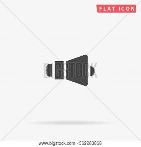 Loudspeaker Flat Vector Icon. Glyph Style Sign. Simple Hand Drawn Illustrations Symbol For Concept I