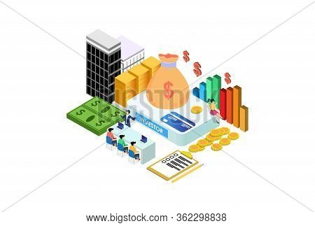 Modern Isometric Sponsorship Investment Illustration, Web Banners, Suitable For Diagrams, Infographi