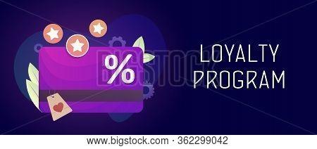 Loyalty Program And Retail Customer Rewards Service. Discount Card With Rewarding Marketing Points C