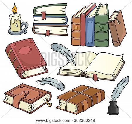 Old Books Theme Set 1 - Eps10 Vector Picture Illustration.