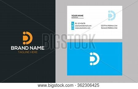 D Dots Logo Design Template D Letter, D Dots, D Logo, Cube D Logo