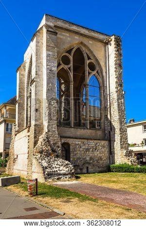 Beauvais, France - July 09, 2019: Ruins Of The Saint Barthelemy Collegiate Church 11-18th Centuries