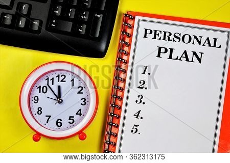 Personal Plan-the Label On The Folder. Long-term Vision Of Future Actions, Development Of A Method F