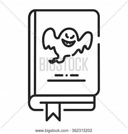Horror Book Black Line Icon. Pictogram For Web Page, Mobile App, Promo. Ui Ux Gui Design Element. Ed