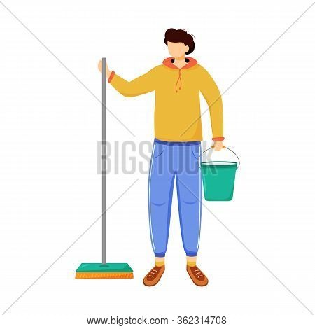 Earning Money Flat Vector Illustration