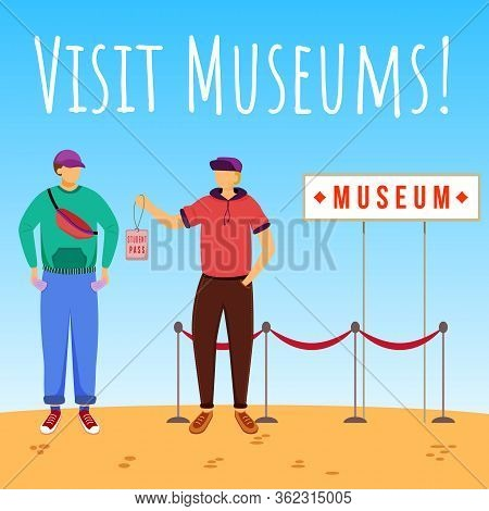 Visit Museums Social Media Post Mockup