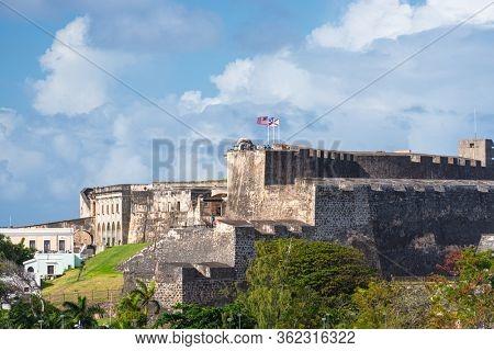 Castillo San Cristobal in San Juan, Puerto Rico.