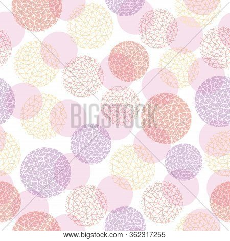 Spotty Circular Vector Repeat Pattern With Textured Fill. Circle Dot Seamless Pattern, Perfect For F