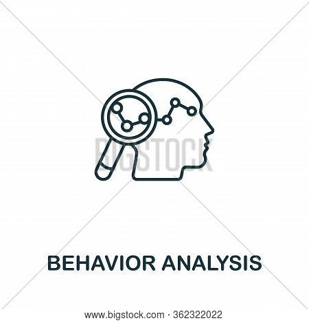 Behavior Analysis Icon From Artificial Intelligence Collection. Simple Line Behavior Analysis Icon F