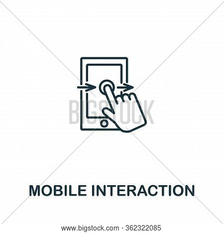 Mobile Interaction Icon From Artificial Intelligence Collection. Simple Line Mobile Interaction Icon