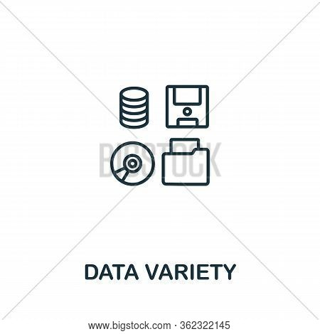 Data Variety Icon From Artificial Intelligence Collection. Simple Line Data Variety Icon For Templat