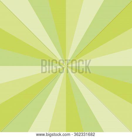 Green Sunburst Spring Art Vector Texture Design