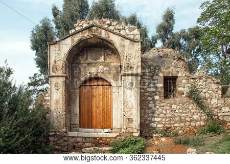 Entrance To The Old Destroyed Madrasah. Greece, Athens. District Of Plaka
