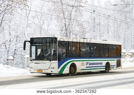 Ufa, Russia - January 13, 2010: Urban Bus Nefaz 52997 (vdl Transit) In The City Street.