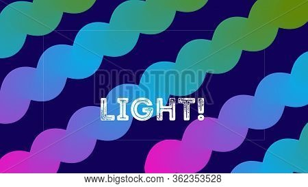 Funky Neon Blend Vector Background. Dreamy Neon Bright Trendy Landing Page. Trendy Colorful Vibrant