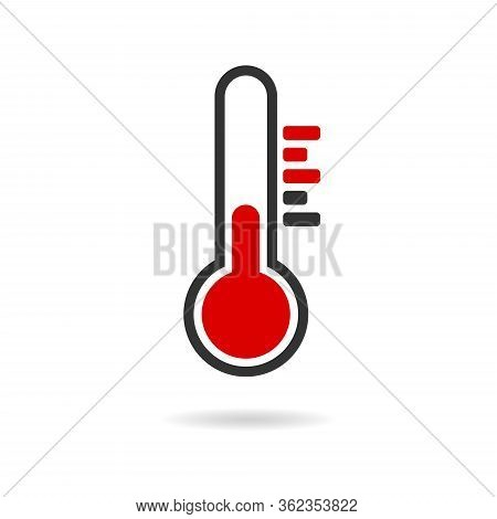 Temperature Flat Vector Icon. . Weather, Hot And Cold Climate For Web Site, Mobile App Design.medici
