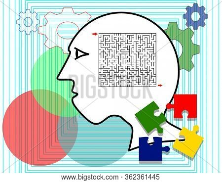 Logical and analytical thinking concept