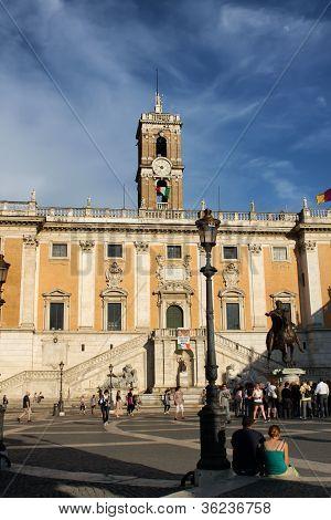 Michelangelo's Piazza del Campidoglio in Rome's Capitol Hill