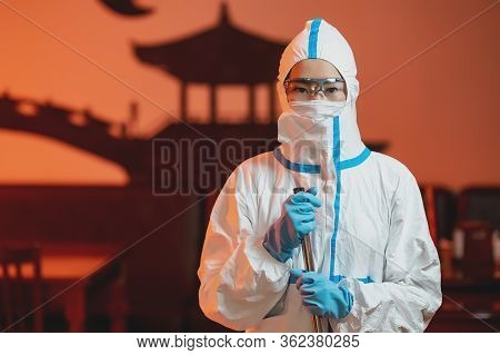 Service Cleaning Protection Prevention Public Place Asian