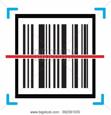 Barcode Scan Icon On White Background. Flat Style. Barcode Product Distribution Icon For Your Web Si