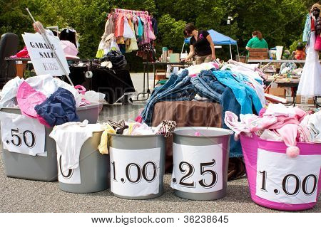Cheap Items On Sale At City Garage Sale