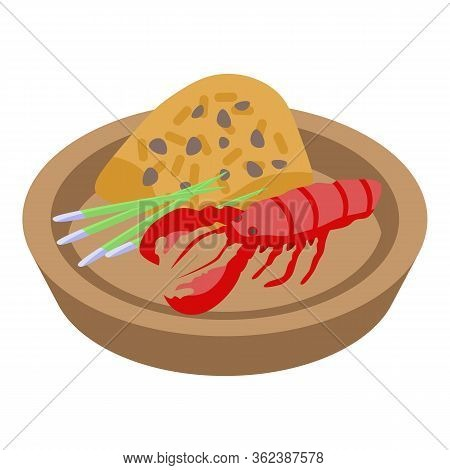Thai Food Red Cancer Icon. Isometric Of Thai Food Red Cancer Vector Icon For Web Design Isolated On