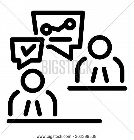 Agency Recruiter Icon. Outline Agency Recruiter Vector Icon For Web Design Isolated On White Backgro