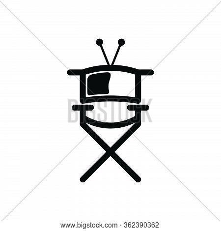 Director Bench. Cinema Director Logo Ideas. Inspiration Logo Design. Template Vector Illustration. I
