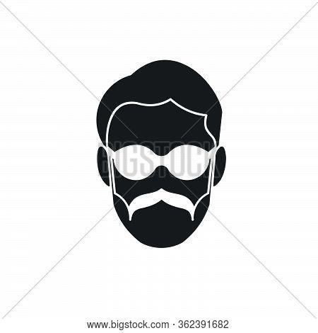 Father. Masculine. Mustache Logo Ideas. Inspiration Logo Design. Template Vector Illustration. Isola