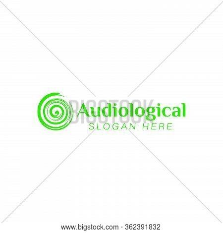Hearing Audiological. Clinic Care Logo Ideas. Inspiration Logo Design. Template Vector Illustration.