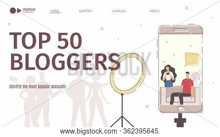 Most Popular Bloggers Accounts Audience Popularity Rating Identification Service, Advertising Campai
