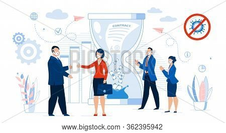 Business Contract Conclusion. Successful Deal Agreement. Time And Money Management. Businesspeople,