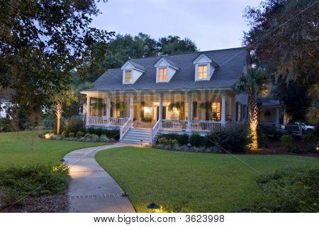 Cape-Cod House At Twilight
