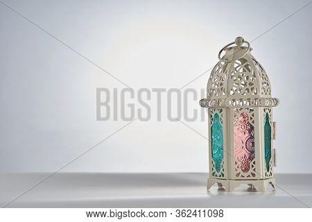 islamic design decoration lamp on the white background