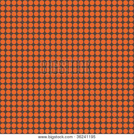 Orange & Dark Grey Circles Pattern