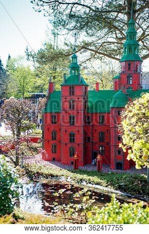 Billund, Denmark - 25 April 2014: Legoland Billund Resort. Famous Amusement Park And Hotel