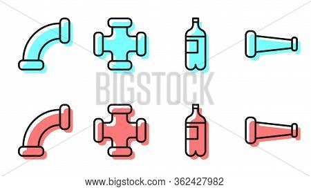 Set Line Bottle Of Water, Industry Metallic Pipe, Industry Metallic Pipe And Industry Metallic Pipe