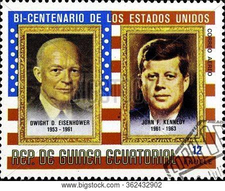 02.10.2020 Divnoe Stavropol Territory Russia Postage Stamp Equatorial Guinea 1975 The 200th Annivers