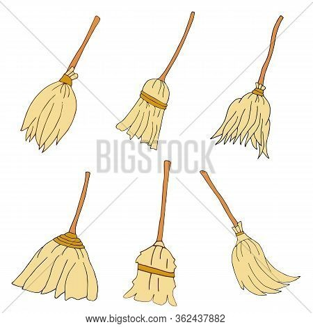 Set Of Panicles For Cleanliness Handmade Vector For Creativity.. Vector Hand Draw  Illustration Eps1