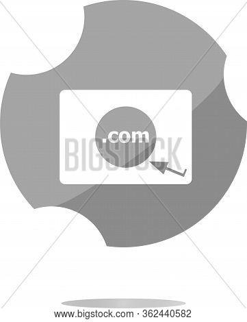 Domain Com Sign Icon. Top-level Internet Domain Symbol