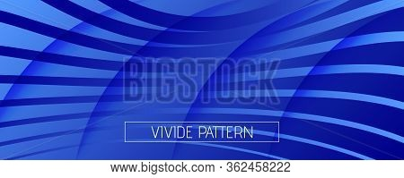 Blue Futuristic Abstract. Business Layout. 3d Geometric Background. Vibrant Wave Texture. Creative F