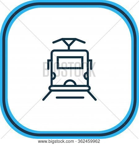 Illustration Of Tram Icon Line. Beautiful Carrying Element Also Can Be Used As Streetcar Icon Elemen
