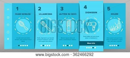 Callus Remover Tool Onboarding Icons Set Vector. Foot Rasp For Treatment Of Hard Skin, Callus Remove