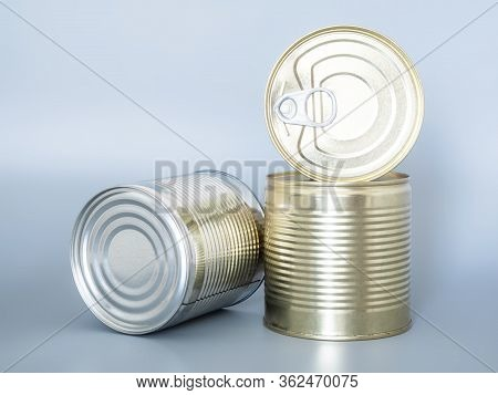 Food Stocks For The Duration Of Quarantine And Isolation In The Coronavirus And Flu Pandemic. Canned